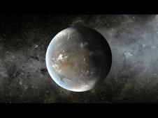 This artist's concept depicts Kepler-62f, a super-Earth-size planet in the habitable zone of its star.Image credit: NASA/Ames/JPL-Caltech