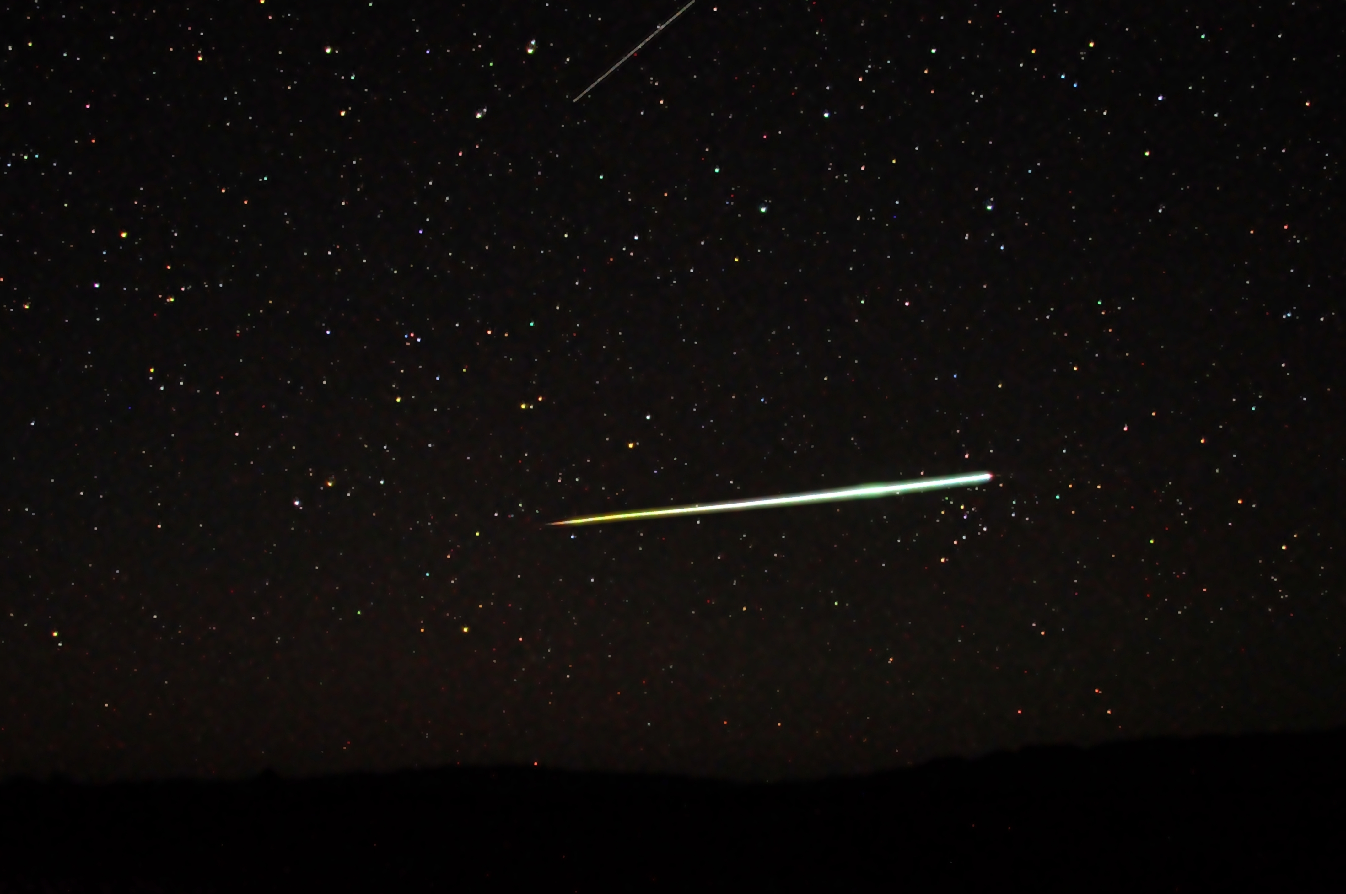 This bolide appeared over the Flinders Ranges, in the South Australian desert on the evening of the 24th April 2011.