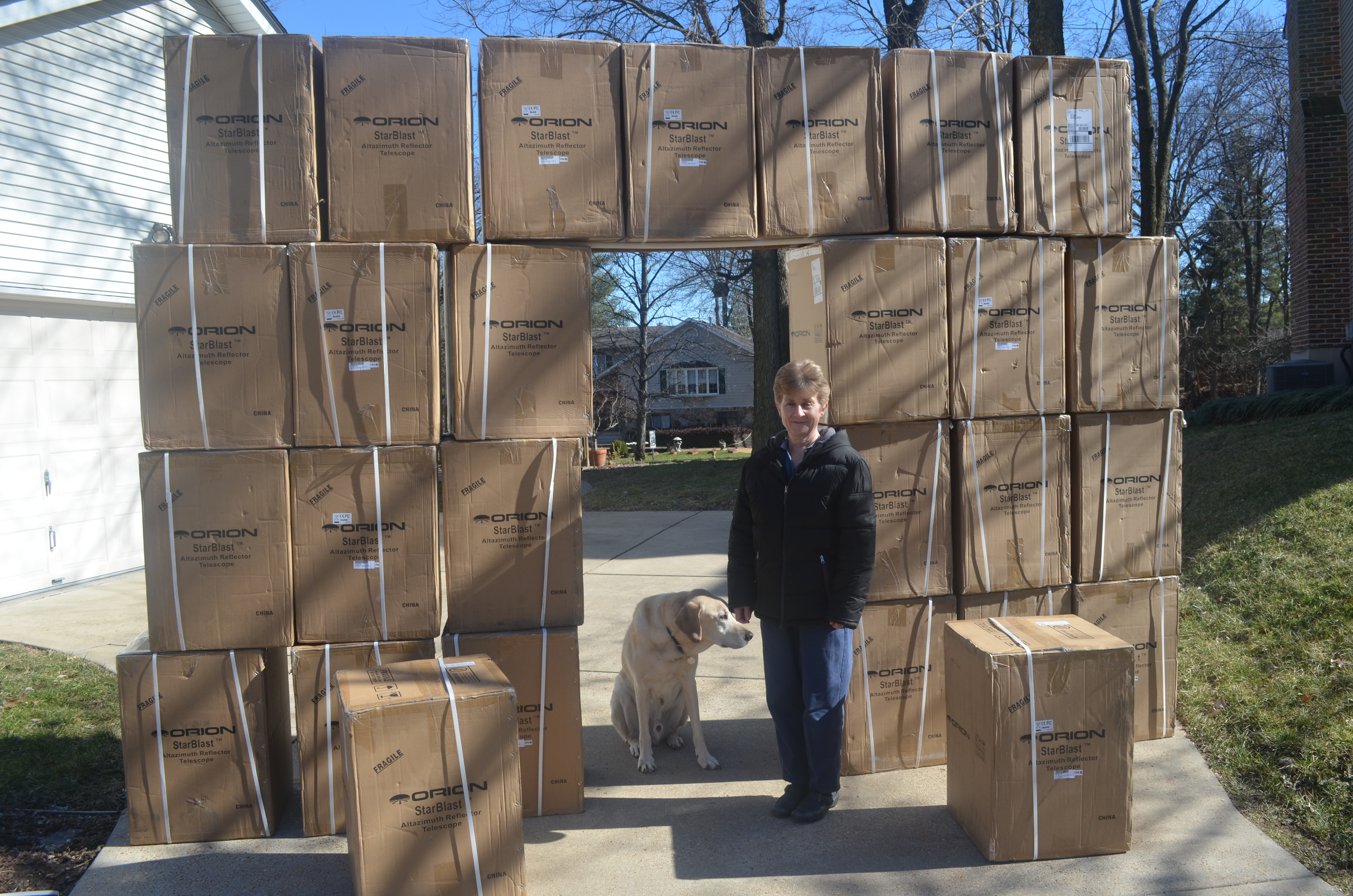 New Orion telescopes received by SLAS