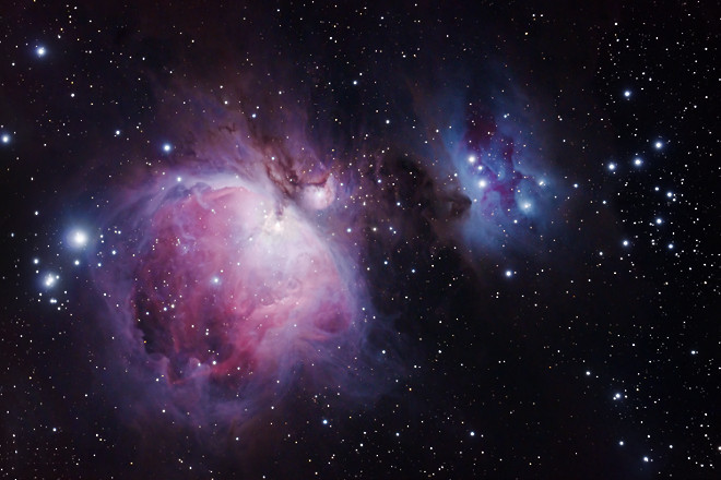 Orion Nebula M42, M43 and NGC 1977, by Steve Peters