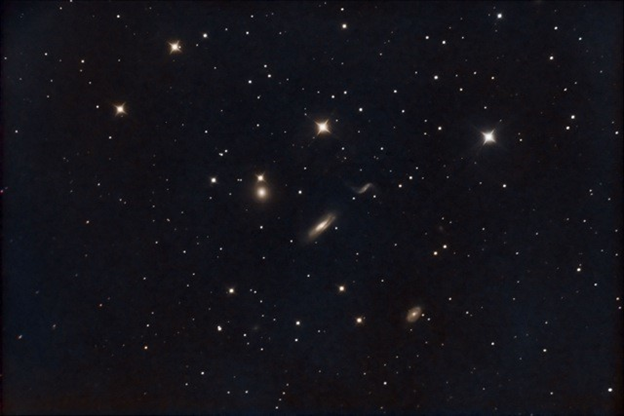 Image of NGC 3190 Galaxy Cluster by Jim Gianoulakis.