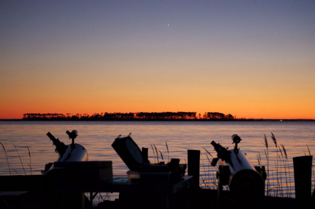 XT8s Scanning for Planets at Sunset by Scott A.