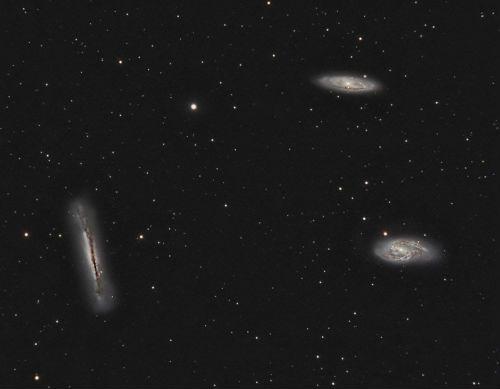 M65, M66, NGC 3628 - The Leo Triplet, by Wynn M