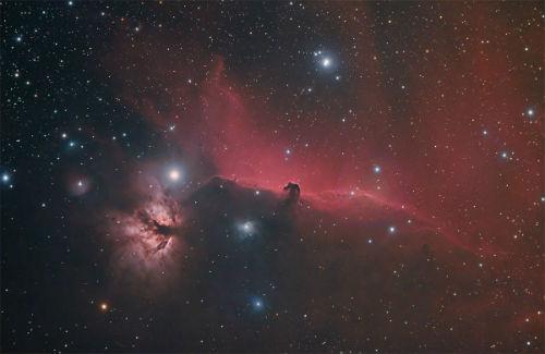 Horsehead/Flame Nebulae by Barry E.