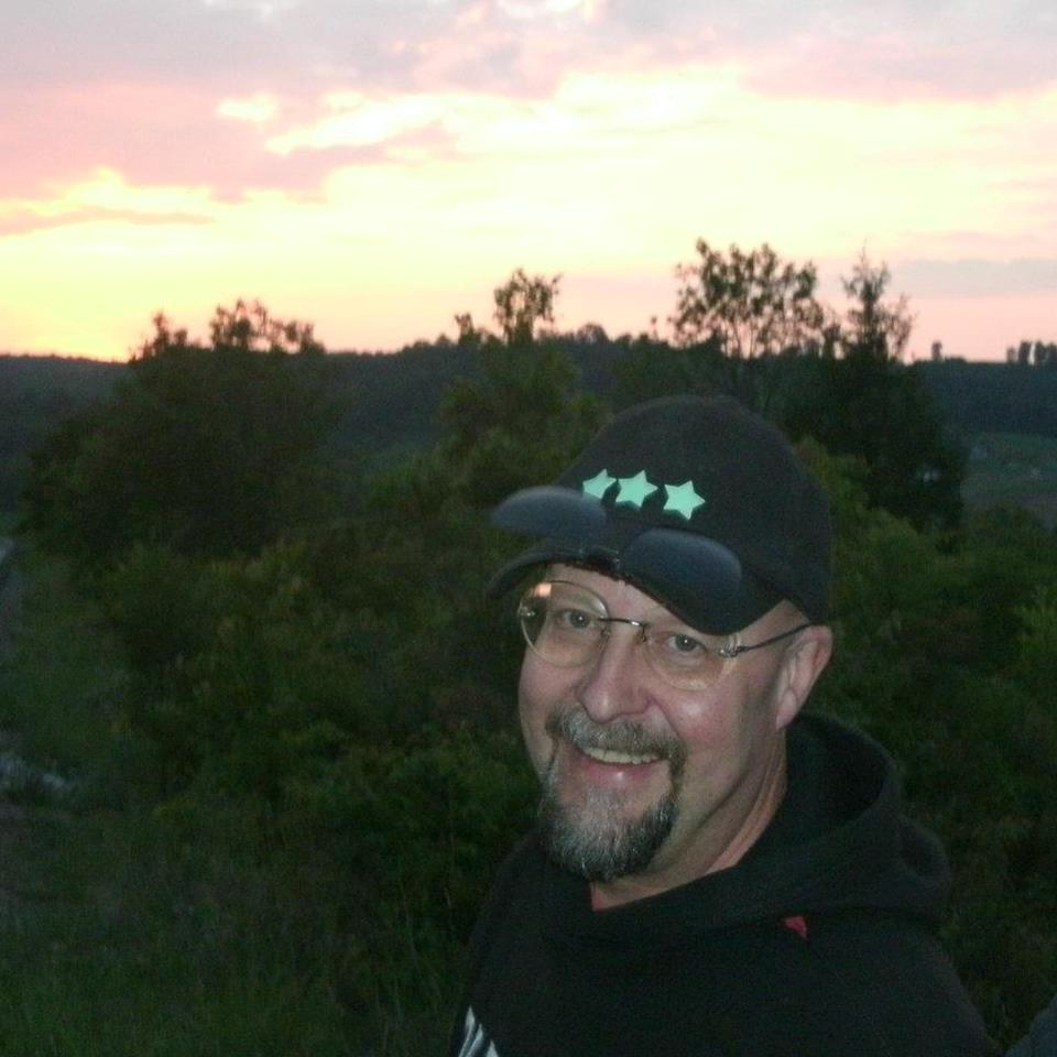 Tony Miller (Duke Skygawker) of Barstronomy, on the evening of the Venus Transit.