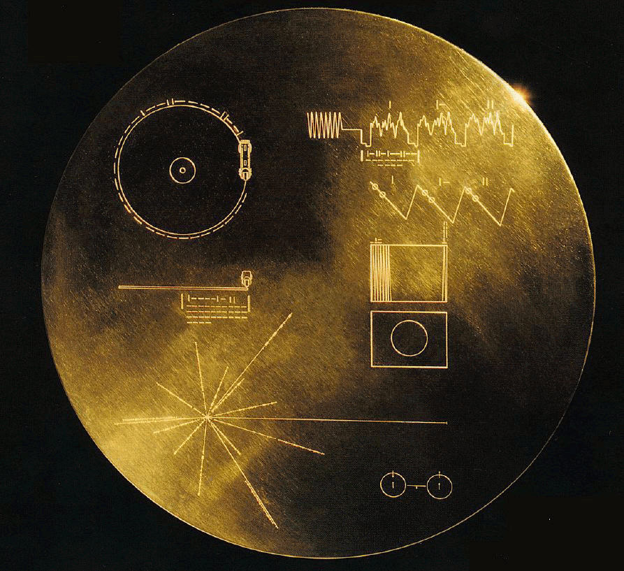 Image of the golden records. Credit: NASA