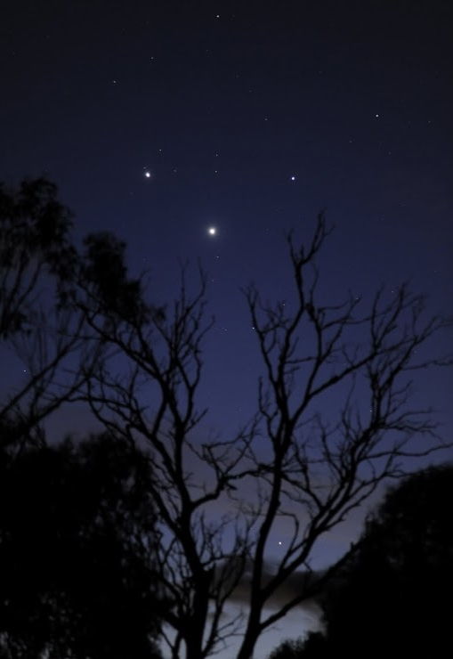 May 2010 Venus-Jupiter-Mercury Conjunction Courtesy of Shevill Mathers