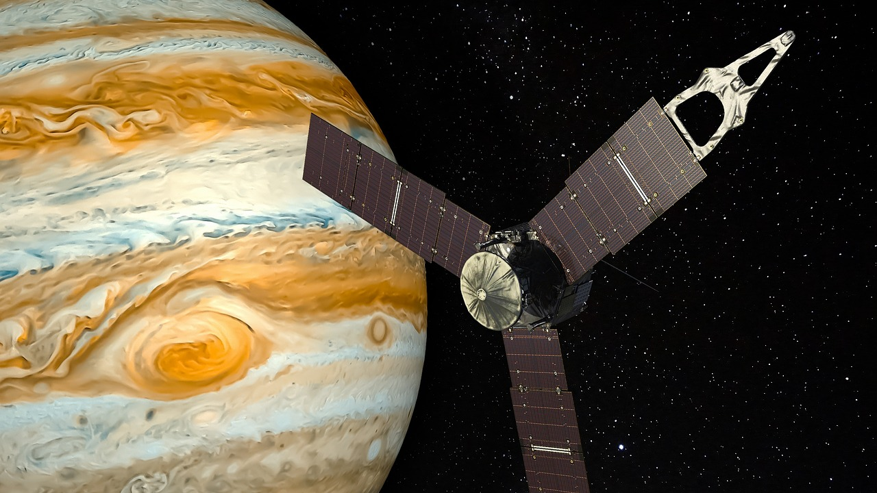 Space probe and Jupiter