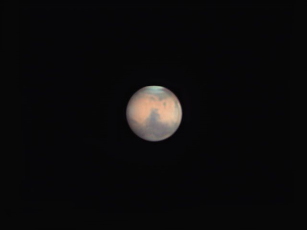 Mars through 8inch Schmidt-Cassegrain Telescope, by Jimmy E.