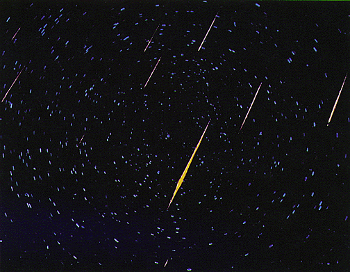 Caption: Meteor Shower Courtesy of NASA