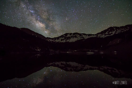 Milky Way over Wheeler Wilderness in New Mexico