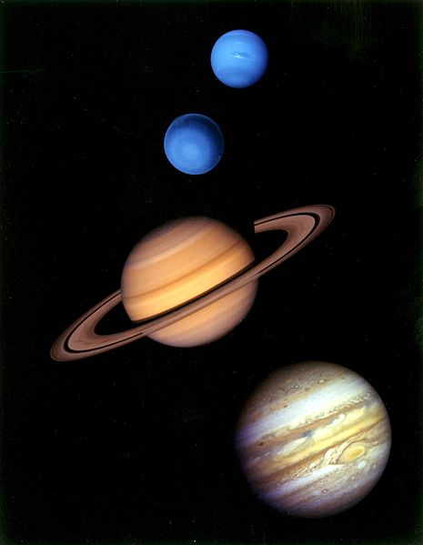 Gas Giants of the Solar System