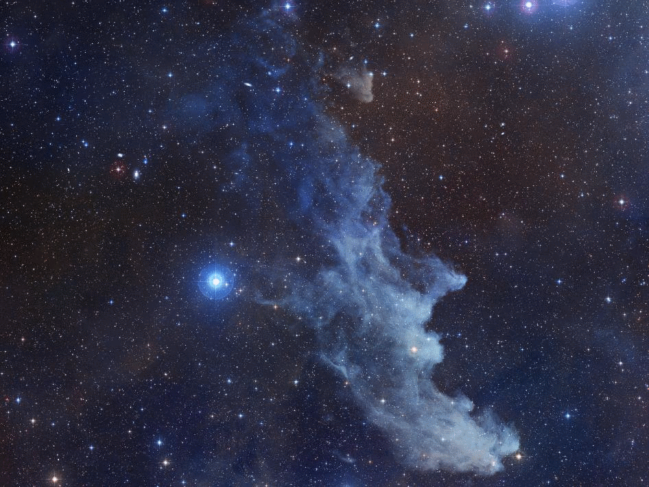 Rigel and the Witch Head Nebula - Photo Credit: NASA/STScI Digitized Sky Survey/Noel Carboni