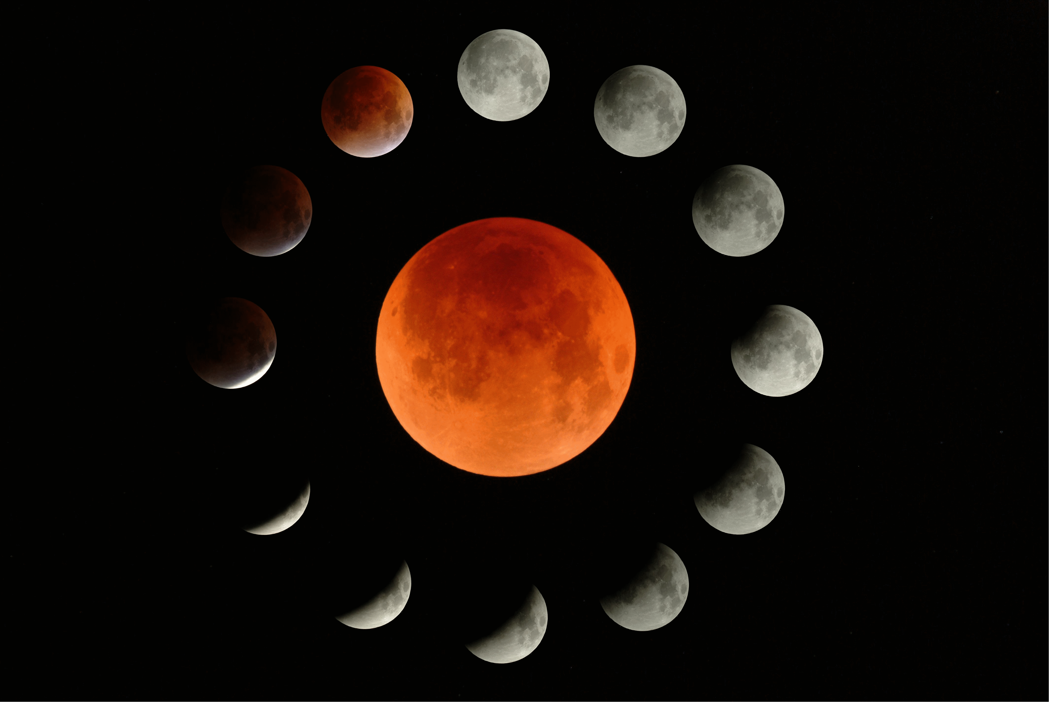 Total Lunar Eclipse by Michael B. in Portland, Oregon, with Orion ED 80 80mm f/7.5 Apochromatic Refractor Telescope.