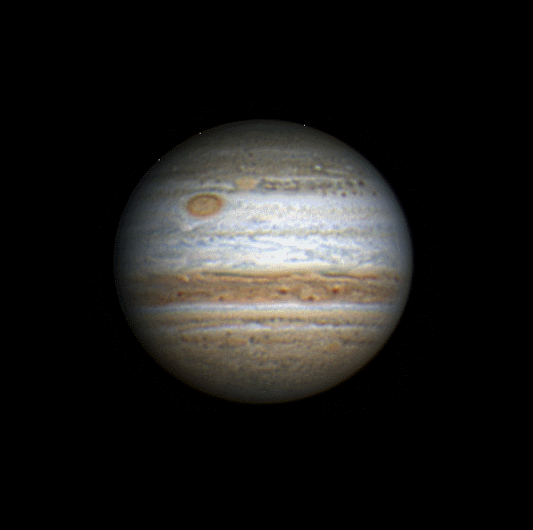 Jupiter, by Tom W. (Image flipped.)
