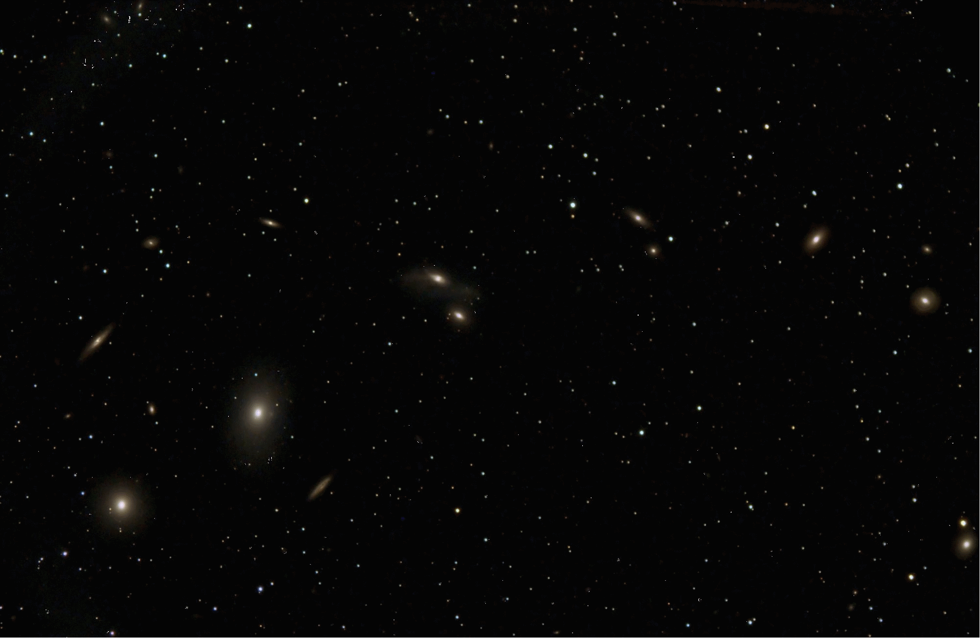 Markarian's Chain of Galaxies in Virgo, by Brian G.