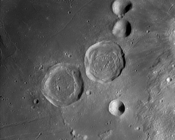 Craters Sabine and Ritter - Credit: Damian Peach