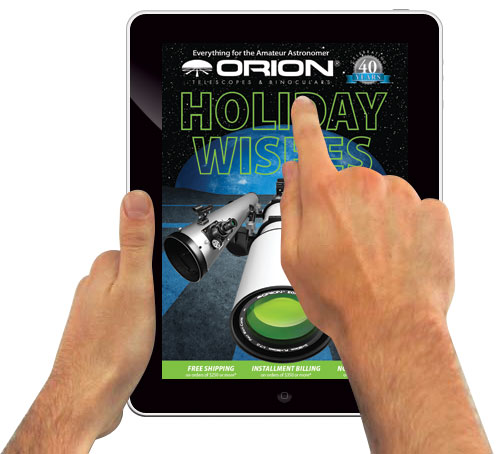 The orion eCatalog App on an Apple ipad. Also available on Android.