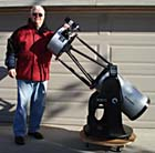 Dr. B. with his Orion SkyQuest XX12 IntelliScope Truss Dobsonian