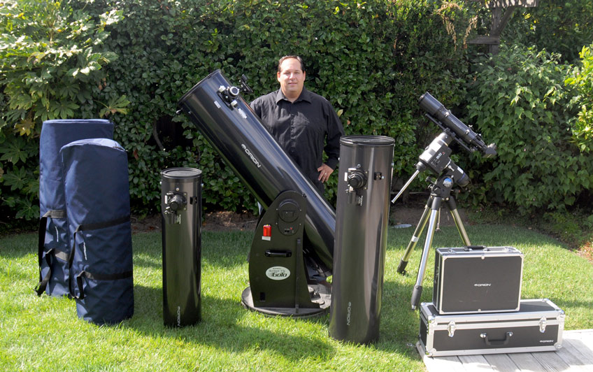 Chanan G. with a bunch of his Orion equipment.