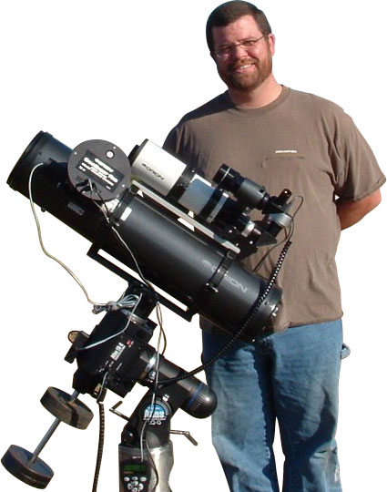 Jamie B. with telescope.