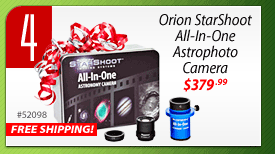 #4: FREE SHIPPING - Orion StarShoot All-In-One Astrophoto Camera (#52098) - $379.99