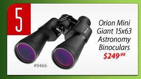 #5: Orion mini Giant 15x63 Astronomy Binoculars (#9466) - $249.99