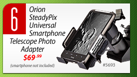 #6: Orion SteadyPix Universal Smartphone Telescope Photo Adapter (#5693) - $69.99