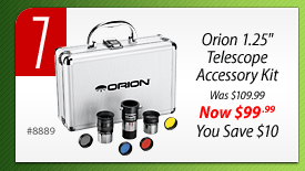 "#7: Orion 1.25"" Telescope Accessory Kit (#8889) - Was $109.99, Now $99.99, You Save $10.00"