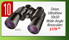 #10: Orion UltraView 10x50 Wide-Angle Binoculars (#9351) - $179.99