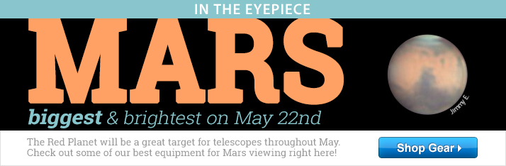 Mars, biggest & brightest on May 22nd