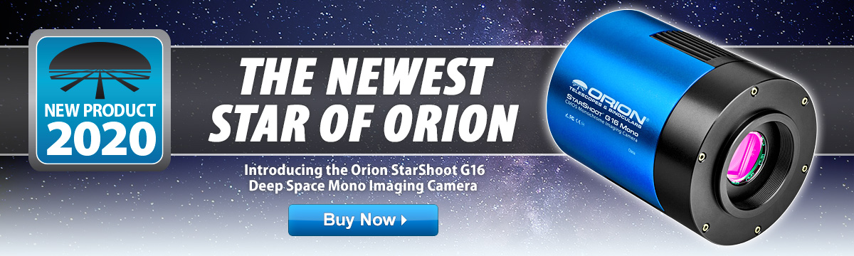 Introducing the Orion StarShoot G16 Deep Space Mono Imaging Camera