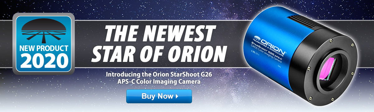 Introducing the Orion StarShoot G26 APS-C Color Imaging Camera