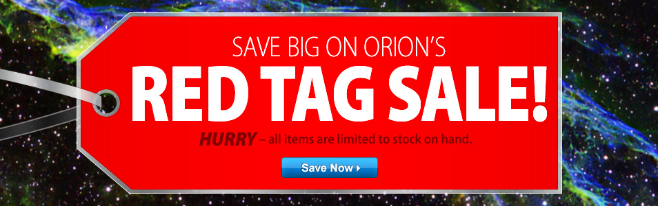 Shop Orion's Red Tag Sale!