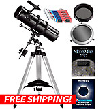 Orion SpaceProbe 130ST EQ Reflector Telescope Sun & Moon Kit