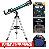 Orion Observer II 60mm AZ Refractor Telescope Starter Kit