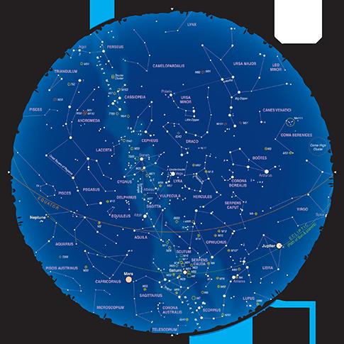 Mapa del Cielo del Mes