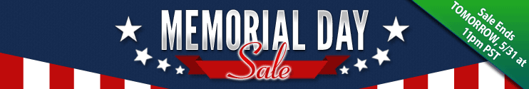 Memorial Day Sale Ends Tomorrow