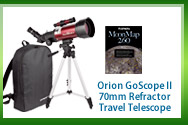 Orion GoScope II 70mm Refractor Travel Telescope