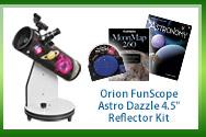 Orion FunScope Astro Dazzle 4.5-inch Reflector Telescope Kit