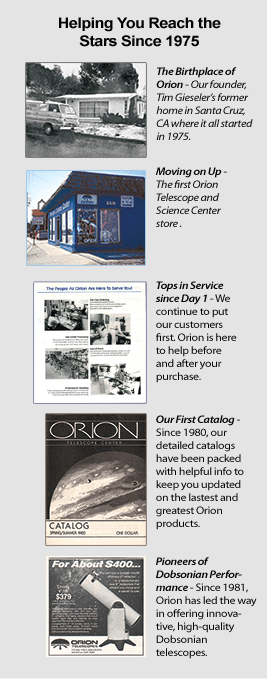 Orion 40th Anniversary Celebration Timeline